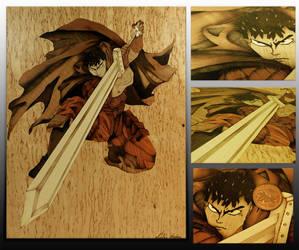 Berserk anime marquetry by Andulino