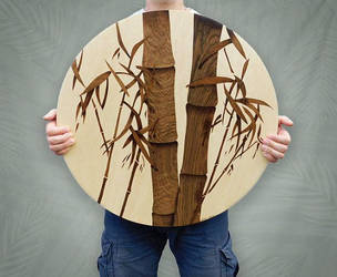 Bamboo marquetry by Andulino