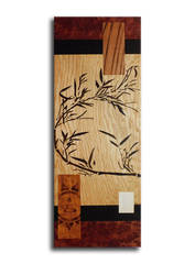 Abstract bamboo wood marquetry by Andulino