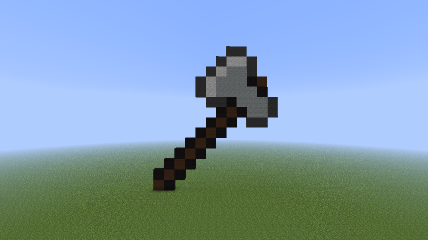 Minecraft Pixel Art Iron Axe By Tobcombine3 On Deviantart