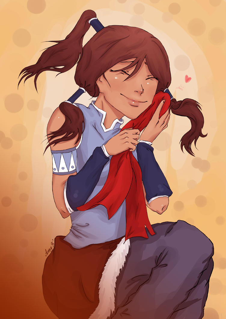 Korra and scarf) by Anny96