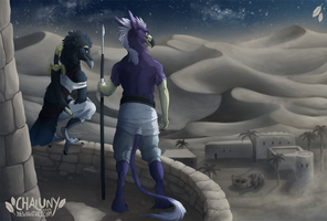Commission - Desert View by Chaluny