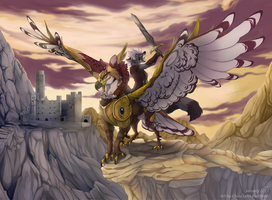 Commission - Gryph and Knight