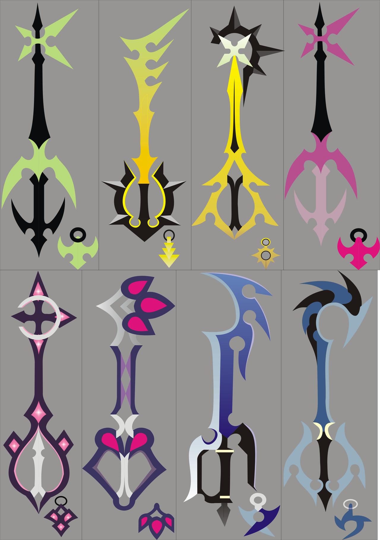Kingdom Hearts 358-2 Keyblades by nativetech