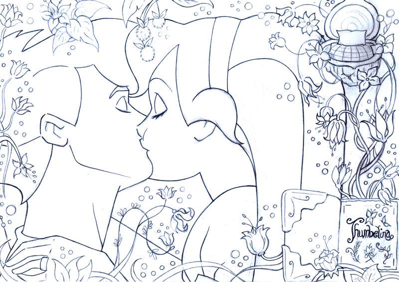 kiss thumbelina and cornelius by lizzzyart on deviantart