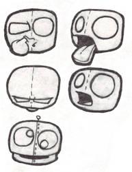 Cartoon Faces by Donku