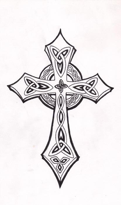 Line Art Cross : Celtic cross by mouse on deviantart
