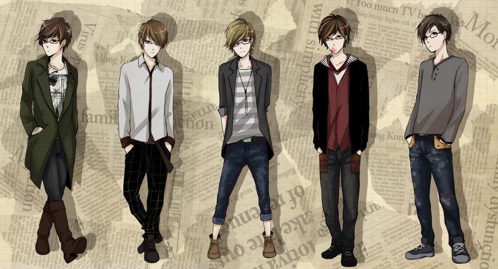 anime male clothes - HD1848×1000