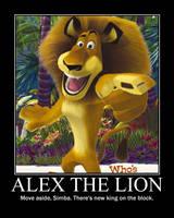 Alex the Lion poster by RedHatMeg