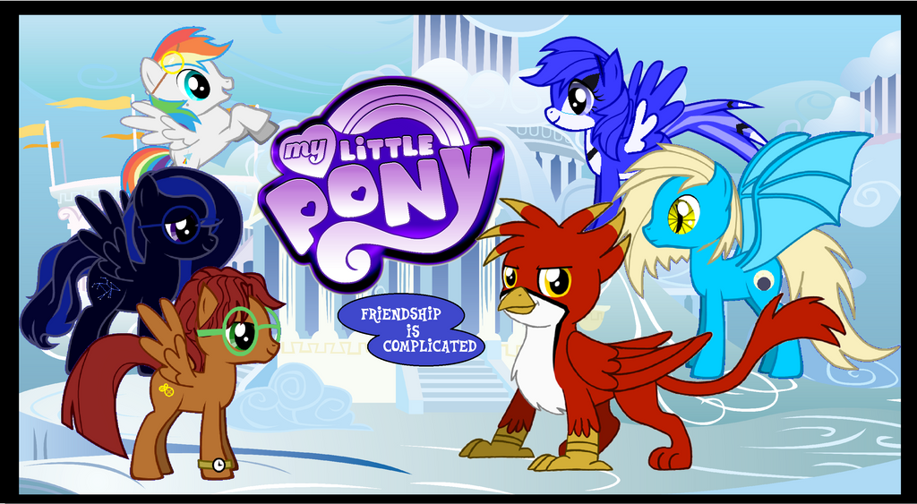 MLP:Friendship is complicated title card by Chinook-the-Orca