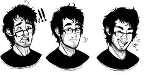 faces of markiplier by Tea-cup-kitty