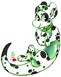 [Payment 2/6] Green Spotted Pup by Fox-From-Malta
