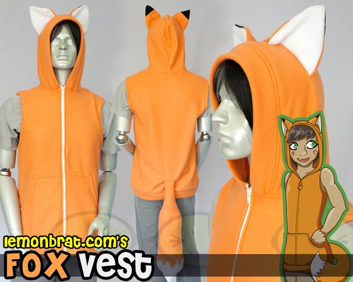 Fox Hoodie by lemonbrat