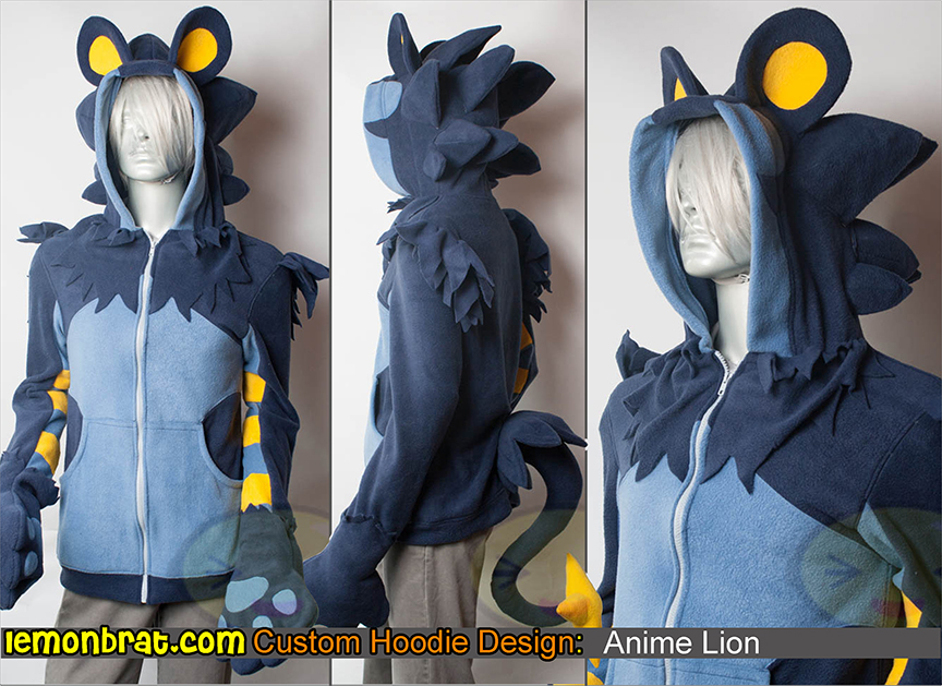 Custom Anime Lion Hoodie by lemonbrat