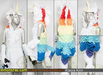 Klaora Kirin Custom Hoodie by lemonbrat