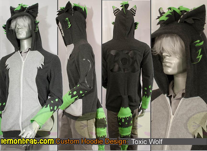Toxic Wolf Custom Hoodie By Lemonbrat On Deviantart