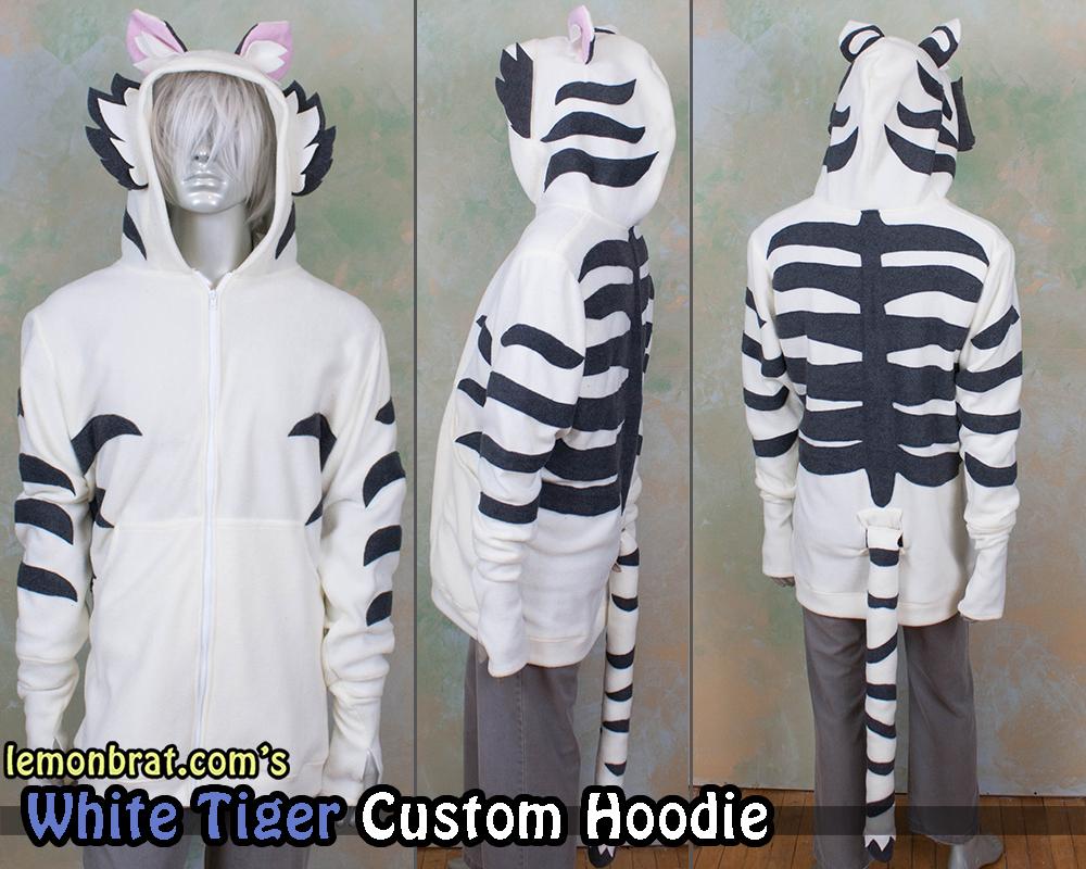 White Tiger Custom Hoodie! by lemonbrat