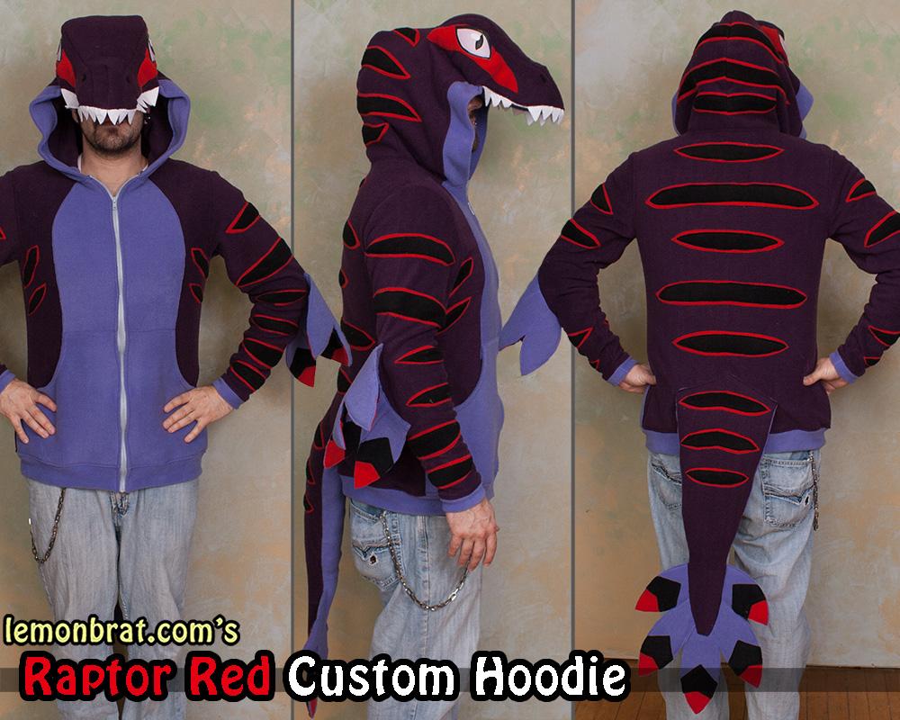 Raptor Red Custom Hoodie! by lemonbrat