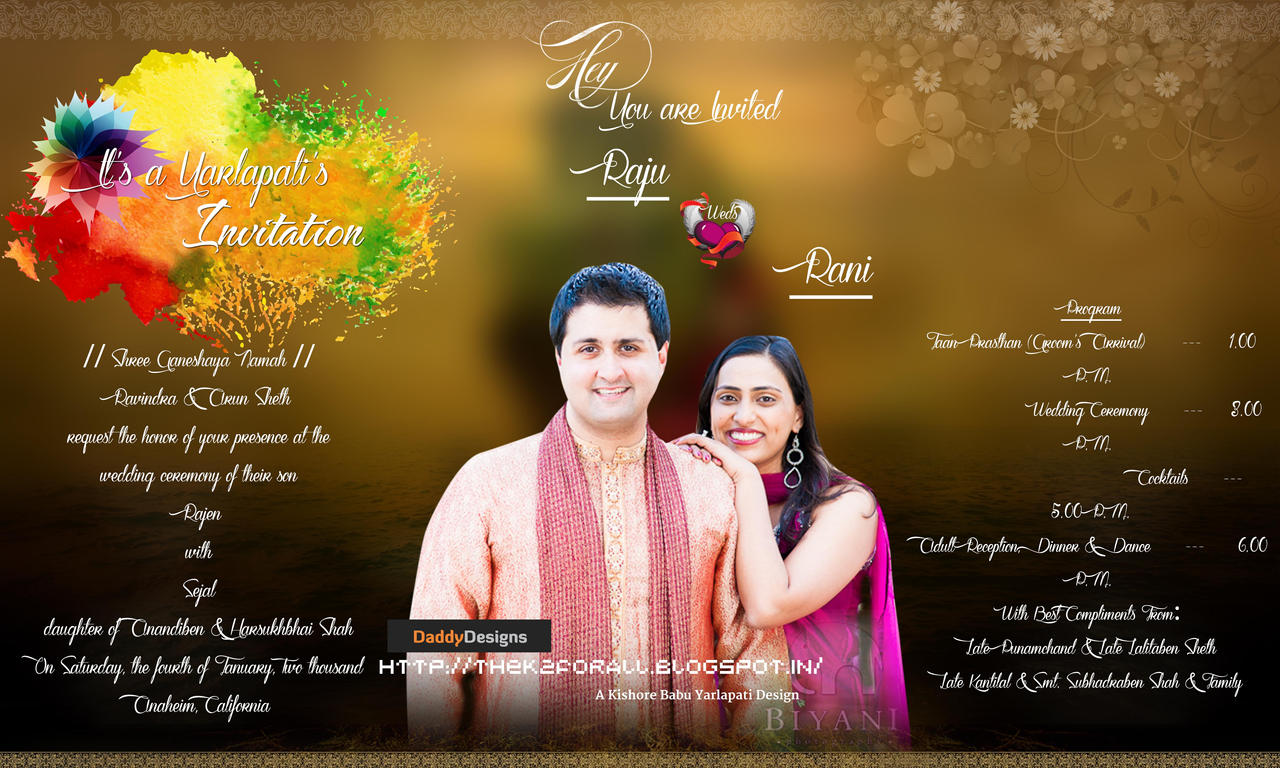 Indian Style Wedding Card Psd For Free by theK2 on DeviantArt – Wedding Cards Indian Style