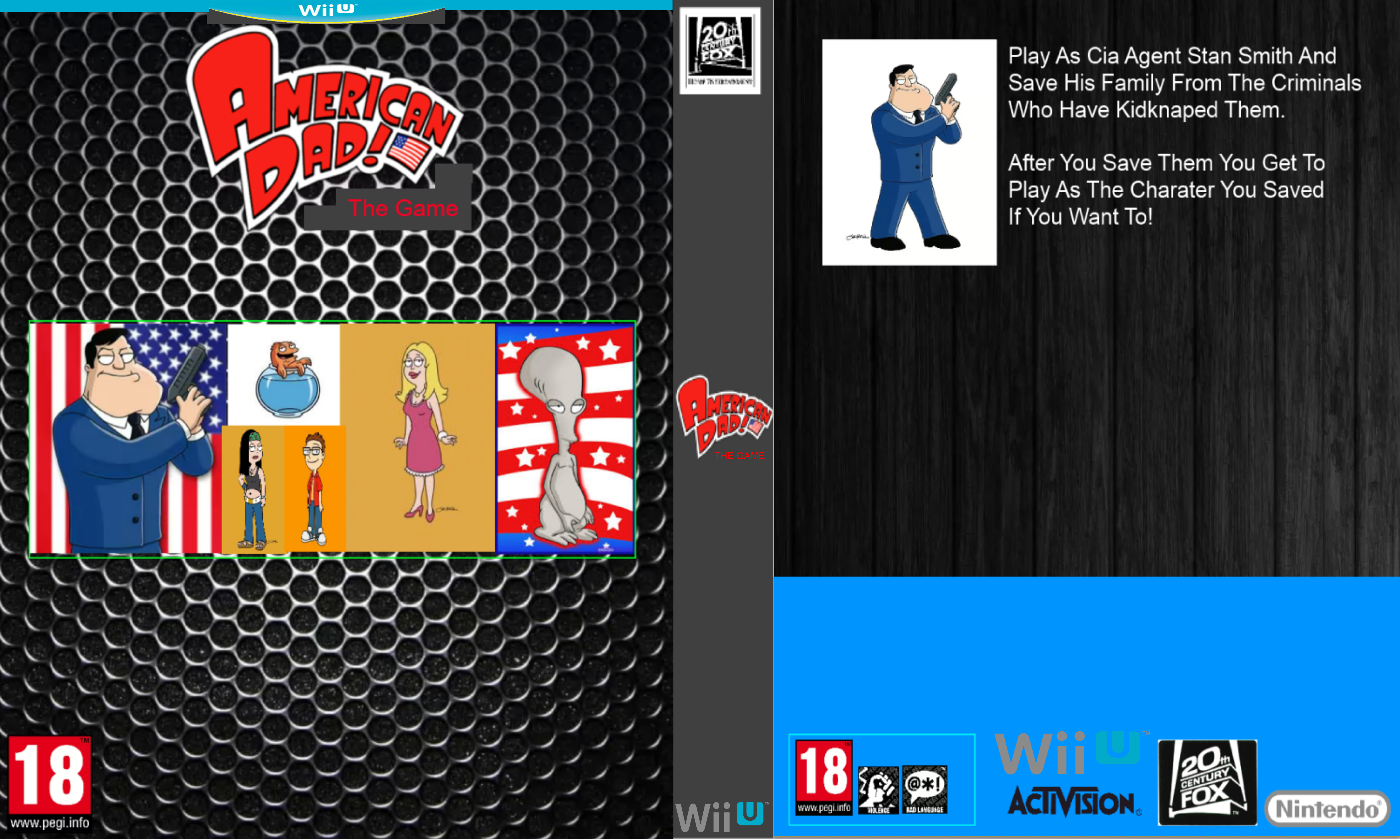 American Dad The Game Concept (Wii U Case) by SimonPaint on