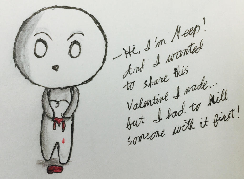 Meep Valentine  by Echos-in-the-Shadows