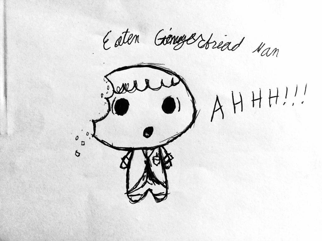 Eaten Gingerbread Man by Echos-in-the-Shadows