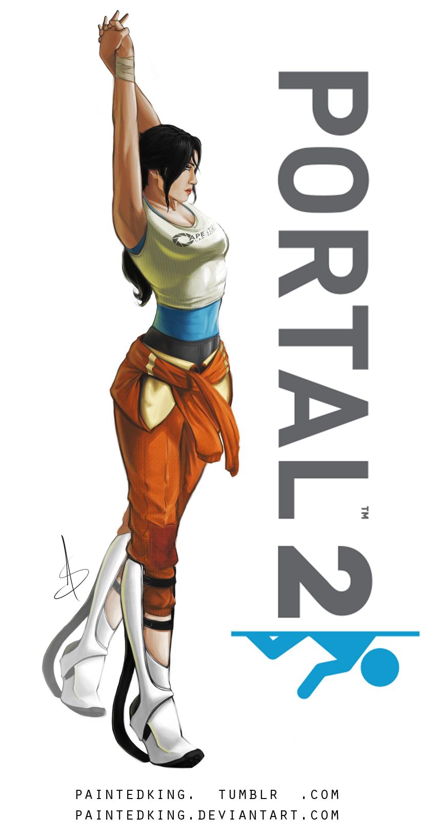 Chell - Portal 2 by asphillipsart on DeviantArt