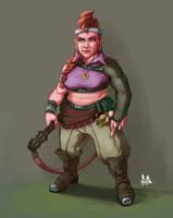 Concept: Dwarven Bard by asphillipsart