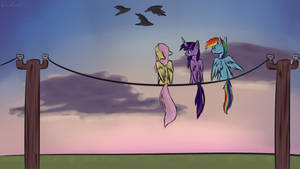 Ponies on a Wire