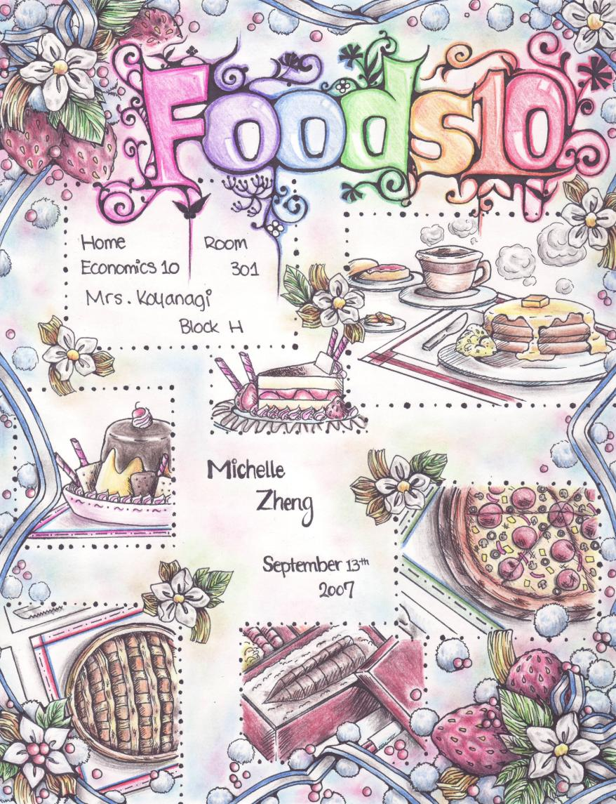 My Foods Title Page By Miisheruu On DeviantArt