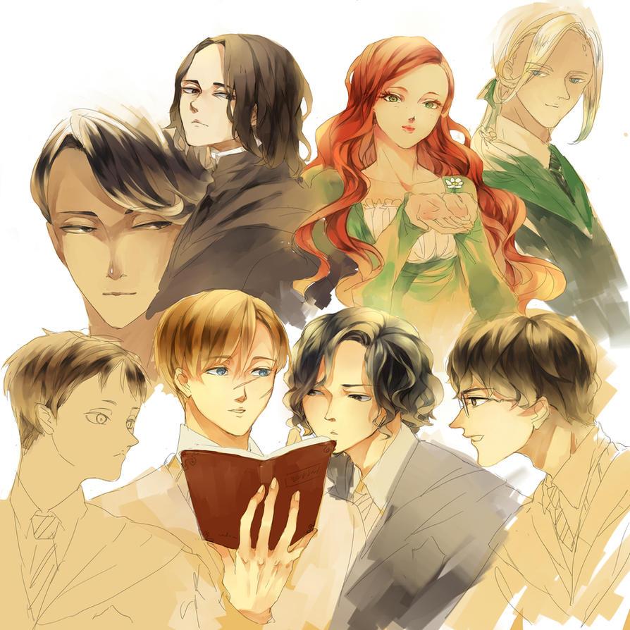 HP Sketches by miisheruu