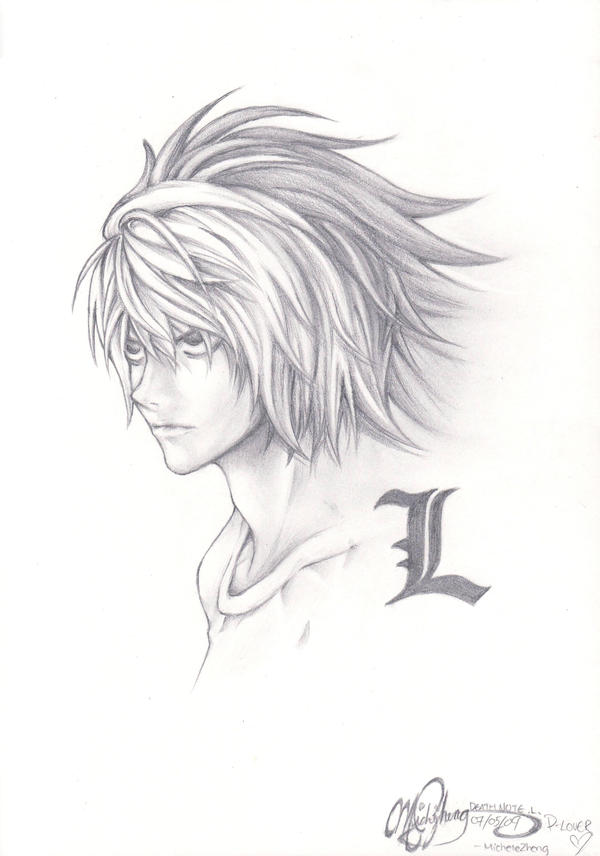 how to draw death note characters step by step drawing