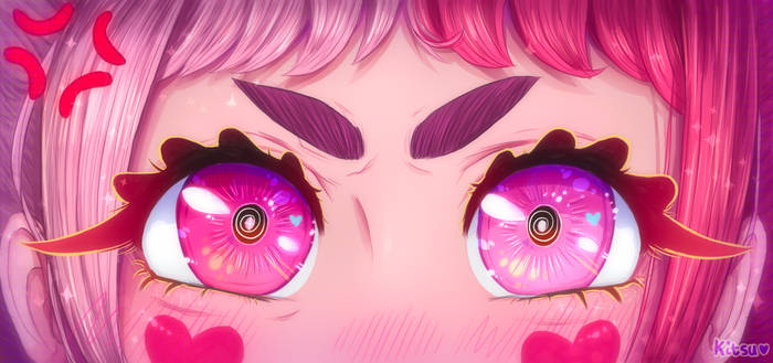 Pink eyes commission