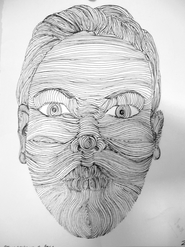 Contour Line Drawing Xp : Cross contour face by kathrynav on deviantart