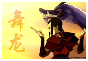Azula Dragon Dance (Colour) by The-Blue-Dragon-Lord