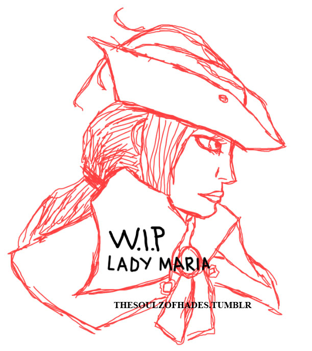 Lady Maria Sketch by The-Blue-Dragon-Lord