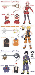 Naruto Heart - Costume Design by mandachan