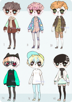 [ CLOSED ] adoptables batch 02 by sicklilthings