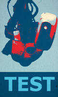 GLaDOS's Campaign Poster by ICanSpellPotatoe