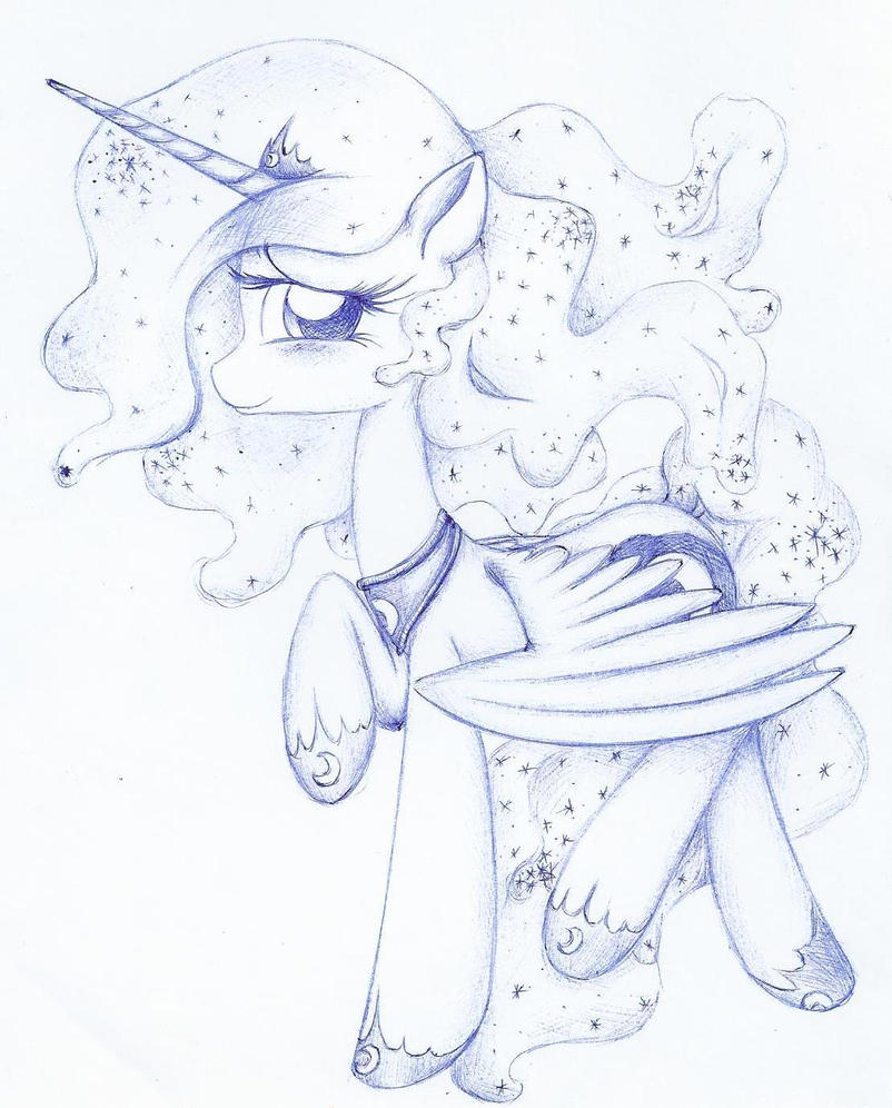 Princess Luna (sketch) by Ketrin0cat