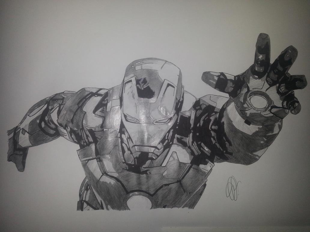 Iron man by emmris dessin on deviantart - Dessin ironman ...