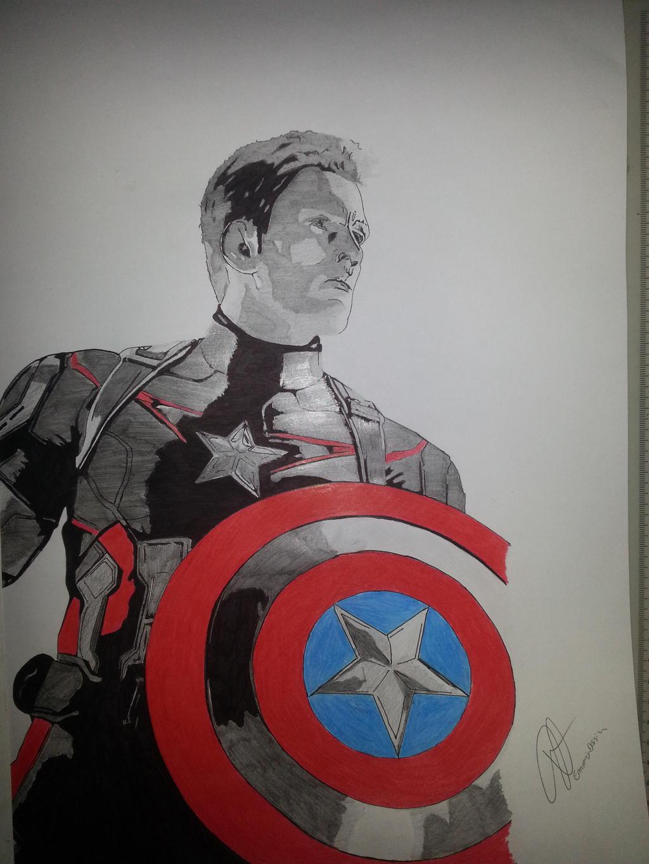 Captain america by emmris dessin on deviantart - Dessin captain america ...