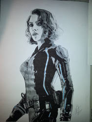 The Black Widow by Emmris-Dessin