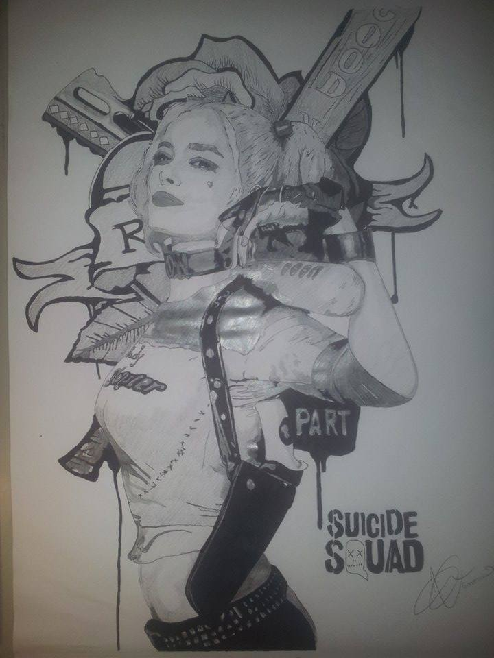 Harley Quinn by Emmris-Dessin