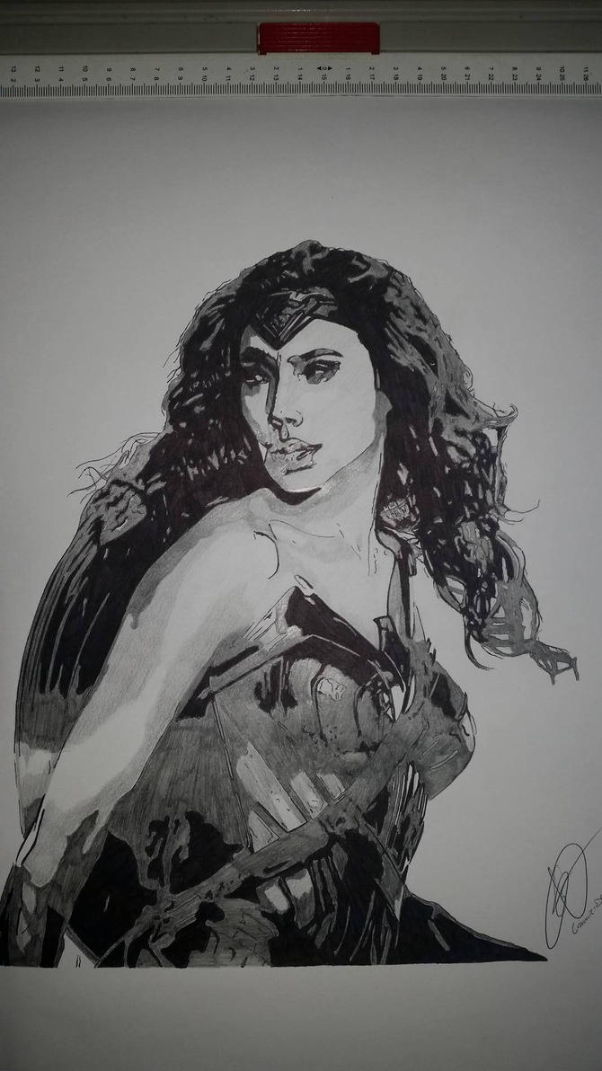 Wonder-Woman by Emmris-Dessin