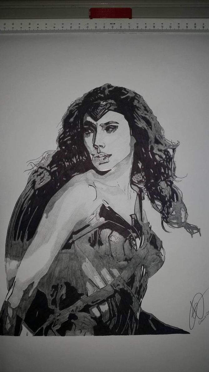 Wonder-Woman by Emmris-Dessin
