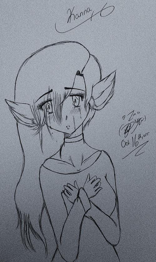 Kanna (wolf girl crying) by TsUmIwOlFpRiEsTeSs24
