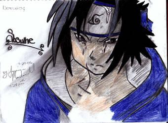 crying sasuke by Deathruler