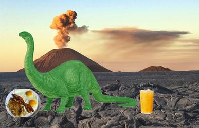 Brontosaurus-eating-breakfast by Aulthar