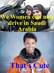 Saudi vs American women by Aulthar